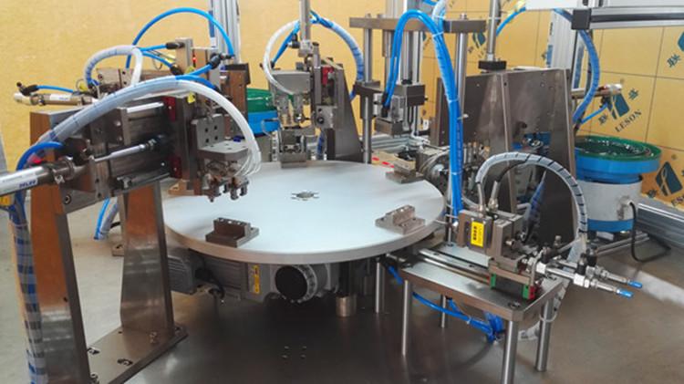 多工位转盘装配测试机细节图