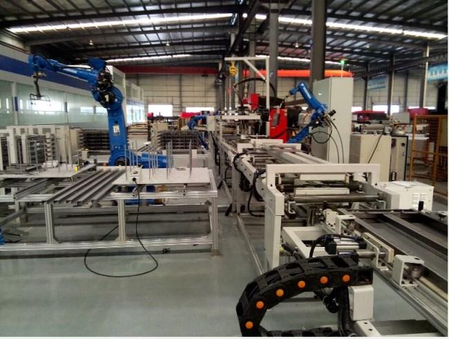 电梯门板搬运焊接流转自动化sheng产线